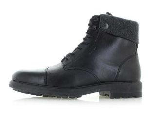 Pánské černé kožené kotníkové zimní boty Gant Nobel II