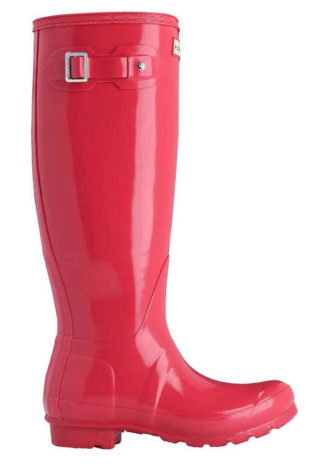Růžové zimní jezdecké boty vysoké kozačky Hunter
