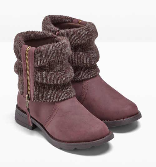 Vínové dámské zimní boty