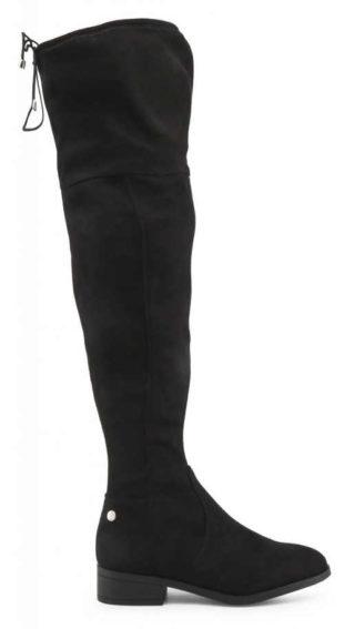 Vysoké černé dámské kozačky nad kolena Xti levně