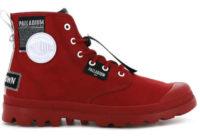 Červené stylové kotníkové boty pro dámy