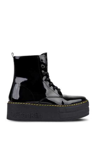 Šněrovací dámské boty na vyšší platformě