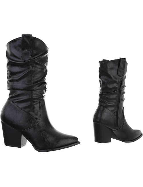 černé westernové zimní boty