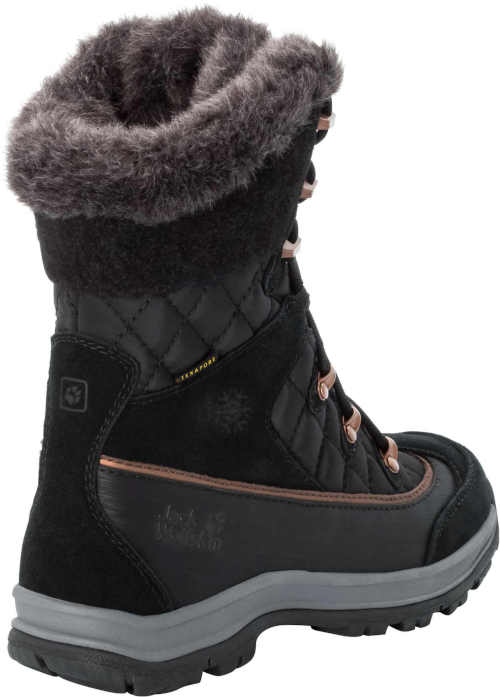 černo-šedé dámské zateplené boty