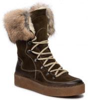 Dámské vyšší zimní boty z přírodní kůže POLLONUS