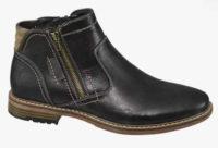 Černá pánská kotníková obuv se zipem Deichmann Venice