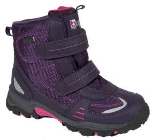 Fialové dívčí zimní boty Bugga na suchý zip