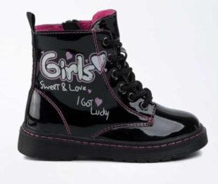 Krásné lesklé černé zimní boty Nelli Blu