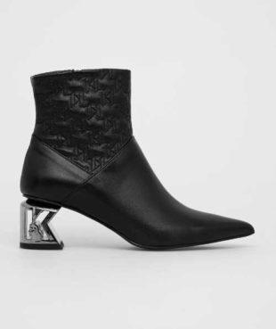 Kožené kotníkové boty Karl Lagerfeld