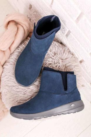 Tmavě modré dámské komfortní boty
