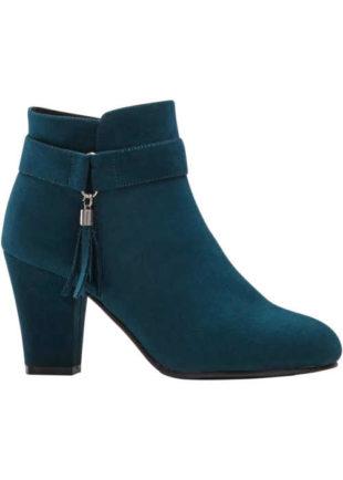 Kotníkové dámské boty s ozdobným střapcem