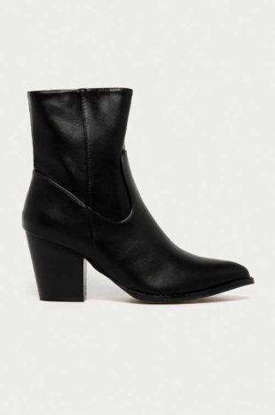 Westernové boty na pohodlném širším podpatku